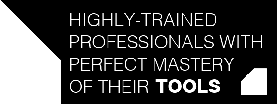 highly-trained professionnels, with perfect mastery of their **tools**